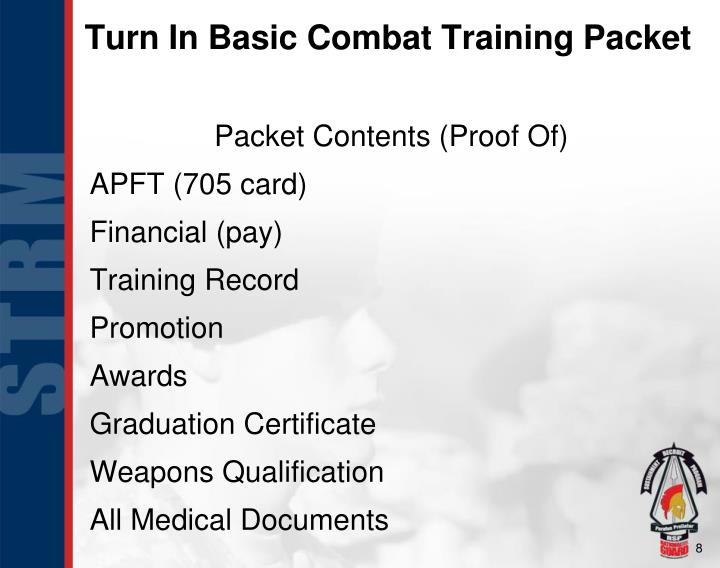 Turn In Basic Combat Training Packet