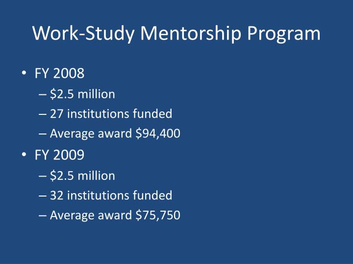 Work study mentorship program1