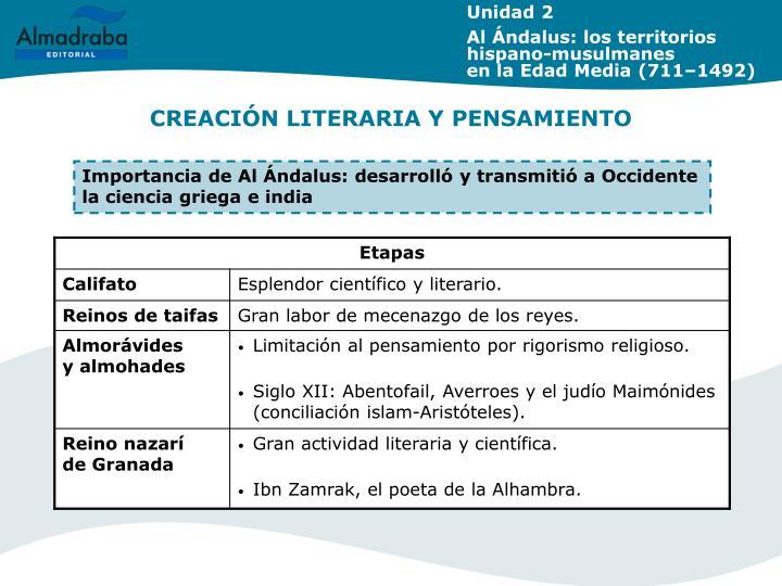 CREACIÓN LITERARIA Y PENSAMIENTO
