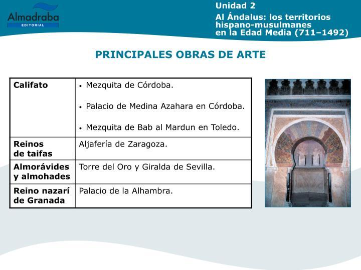 PRINCIPALES OBRAS DE ARTE