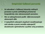 empirick a bov percent