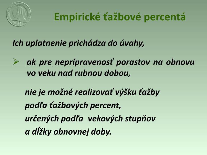 Empirické ťažbové percentá