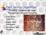 field service capabilities1