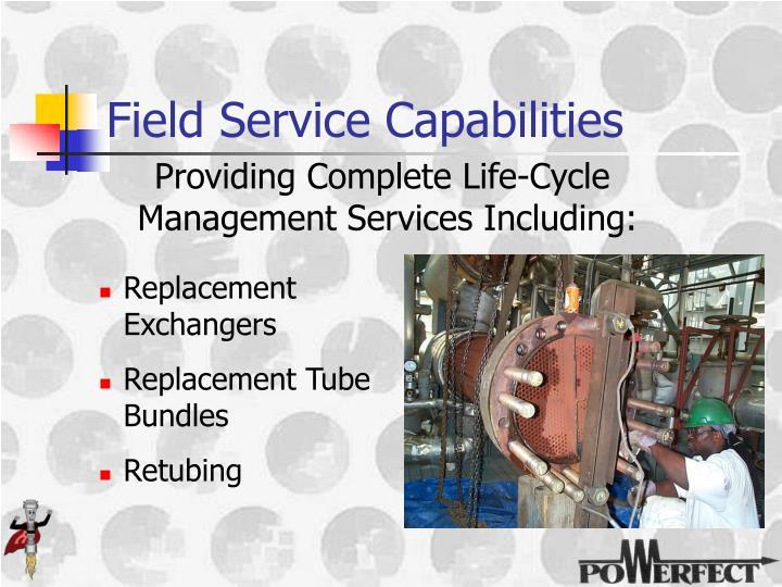 Field Service Capabilities