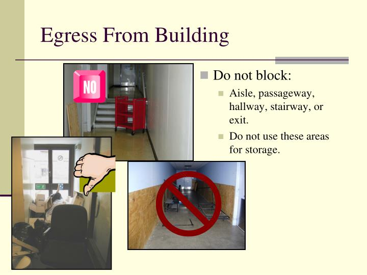 Egress From Building