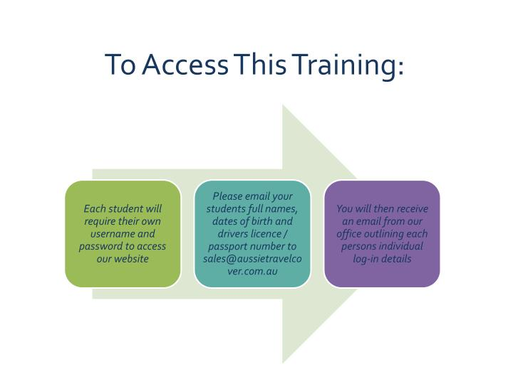 To Access This Training: