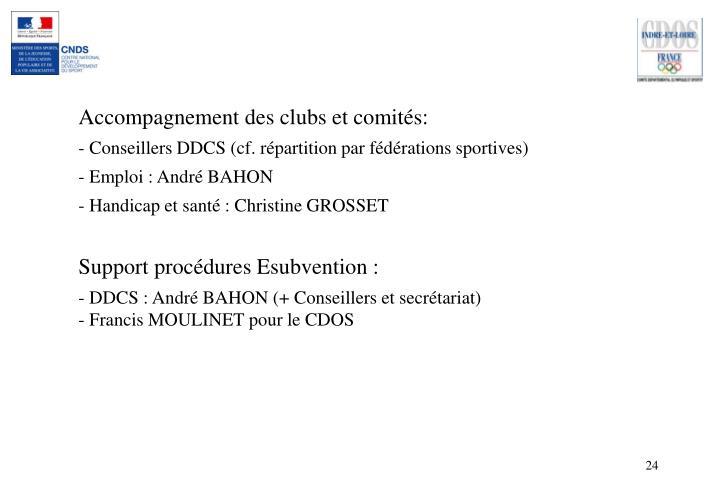 Accompagnement des clubs et comités: