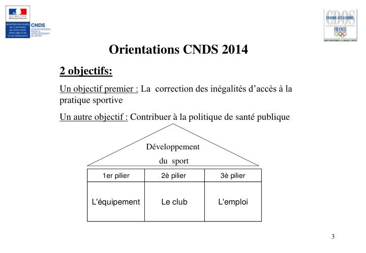 Orientations CNDS 2014