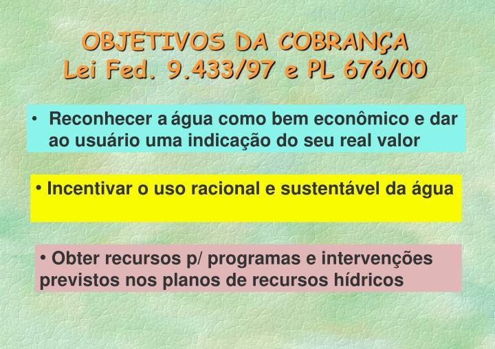 OBJETIVOS DA COBRANÇA