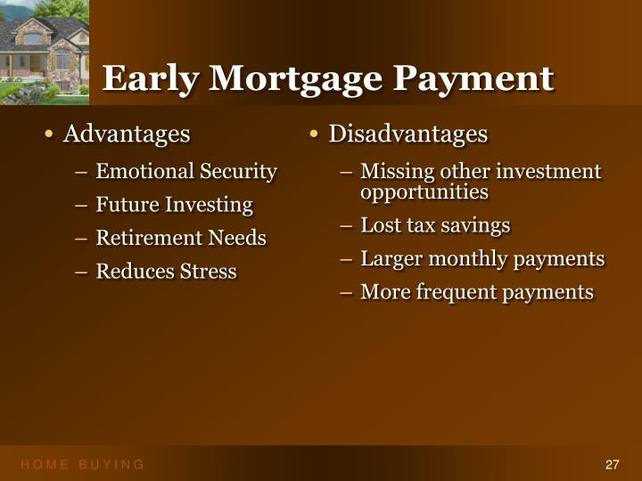Early Mortgage Payment