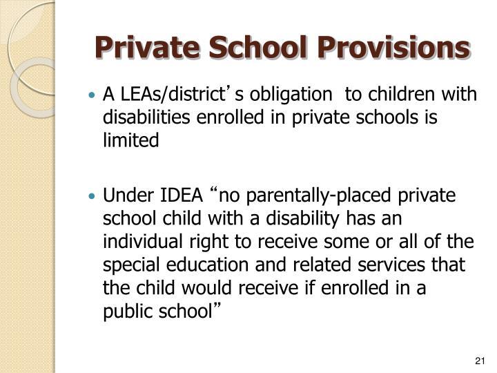 Private School Provisions