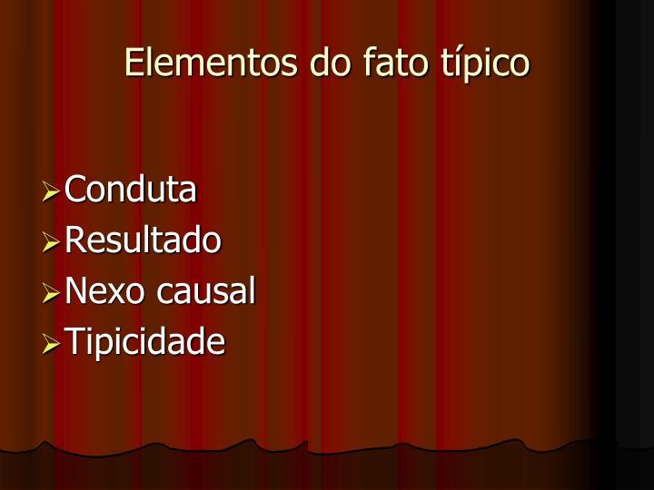 Elementos do fato típico