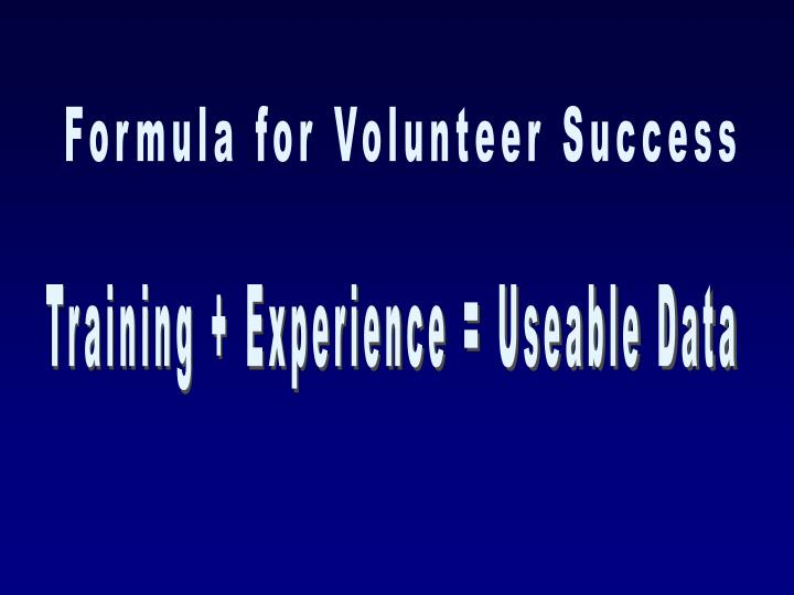 Formula for Volunteer Success