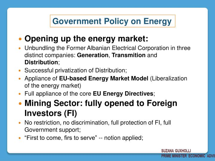 Opening up the energy market: