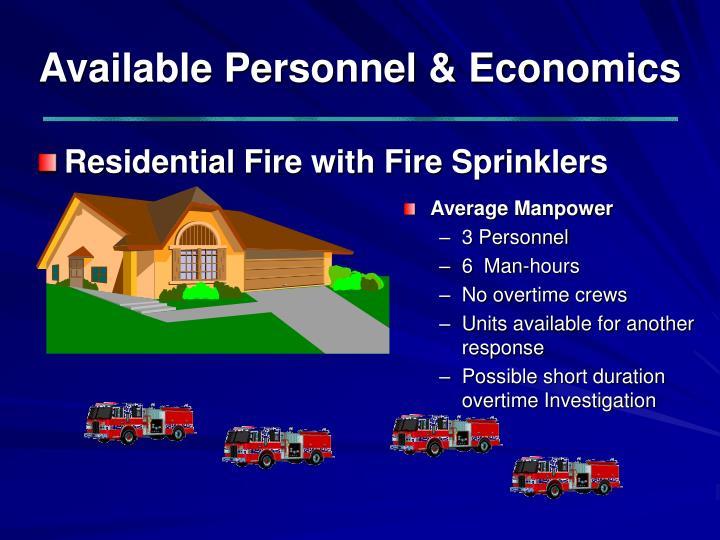 Available Personnel & Economics