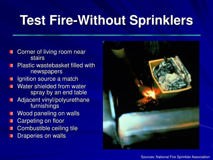 Test Fire-Without Sprinklers