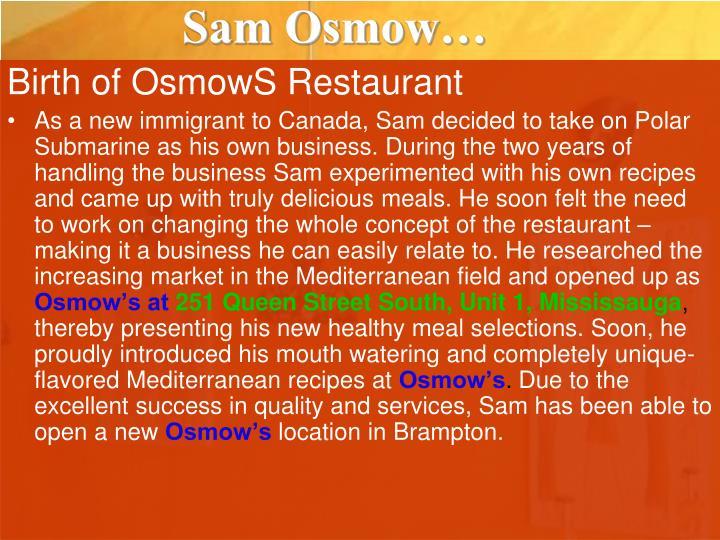 Sam Osmow…