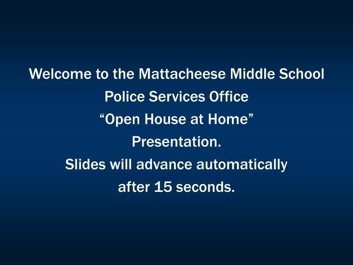 Welcome to the Mattacheese Middle School