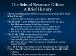 the school resource officer a brief history