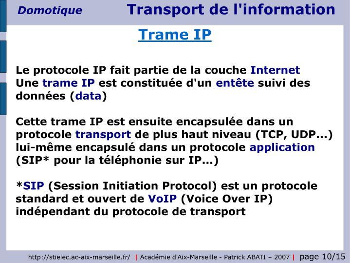 Trame IP