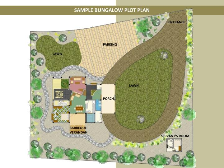 SAMPLE BUNGALOW PLOT PLAN