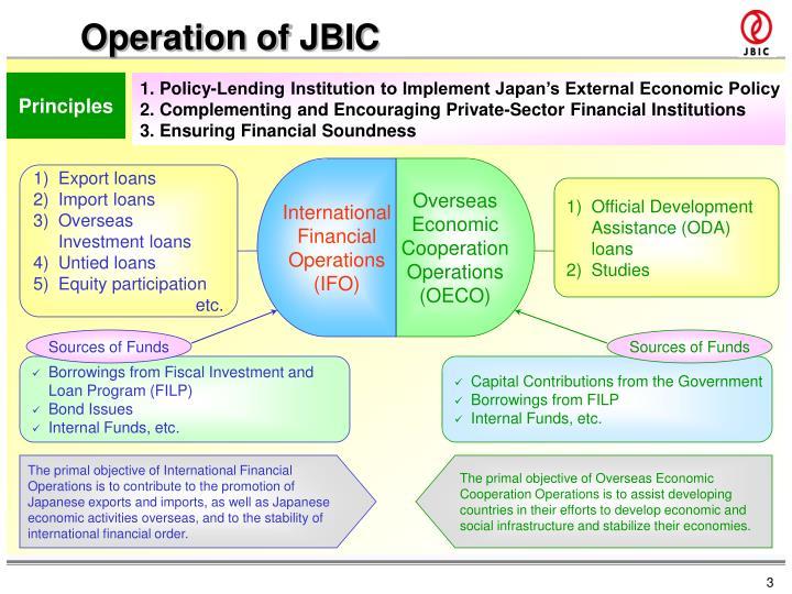 Operation of JBIC