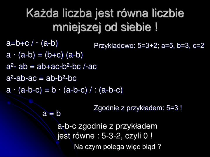 a=b+c /