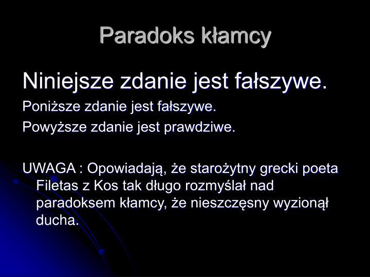 Paradoks kłamcy