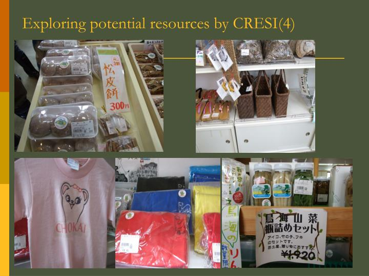 Exploring potential resources by CRESI(4)