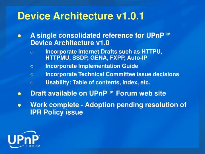 Device Architecture v1.0.1