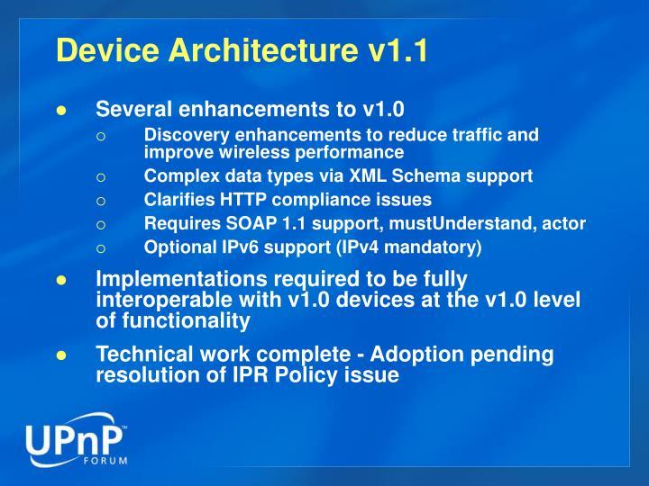 Device Architecture v1.1