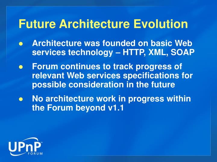 Future Architecture Evolution