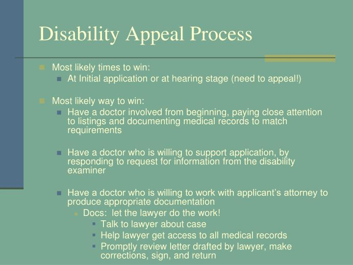 Disability Appeal Process