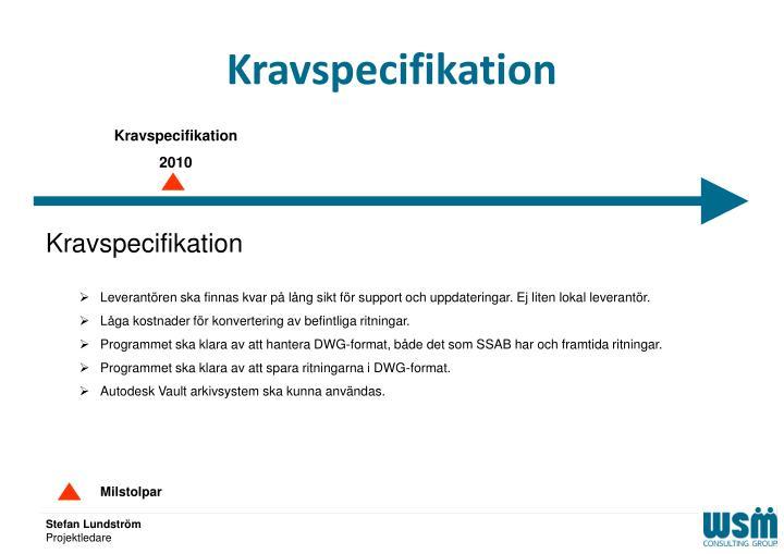 Kravspecifikation