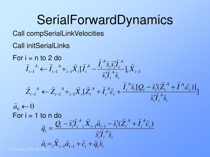 SerialForwardDynamics