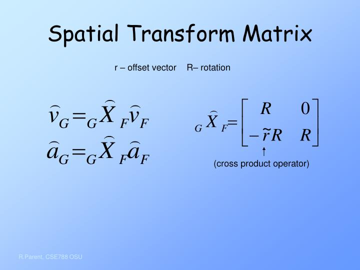 Spatial Transform Matrix