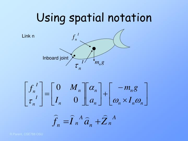 Using spatial notation