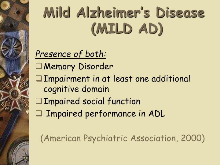 Mild Alzheimer