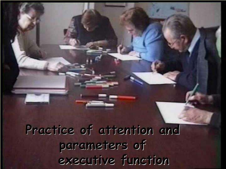 Practice of attention and parameters of