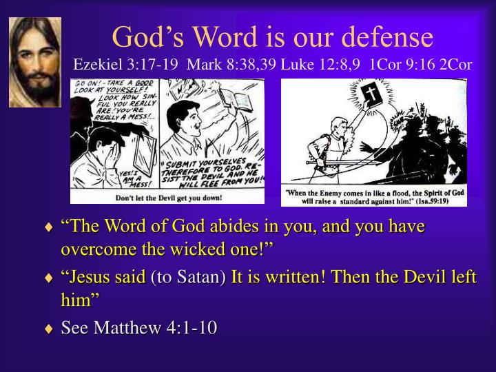 God's Word is our defense