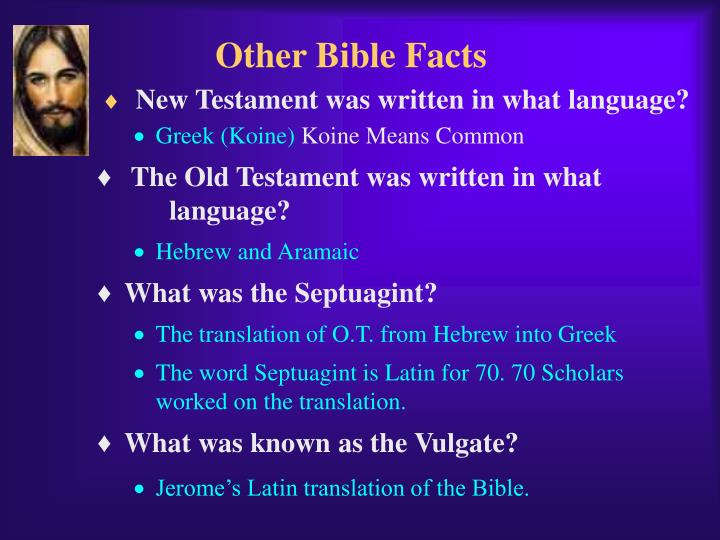 Other Bible Facts