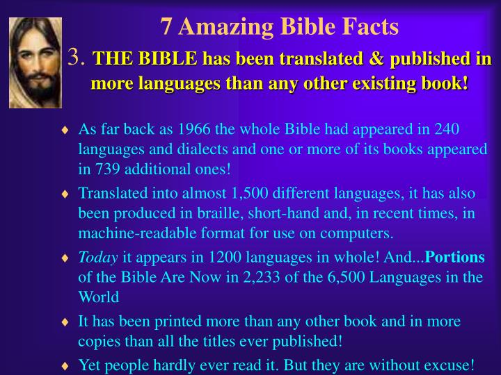 7 Amazing Bible Facts