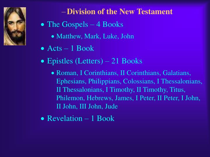 Division of the New Testament