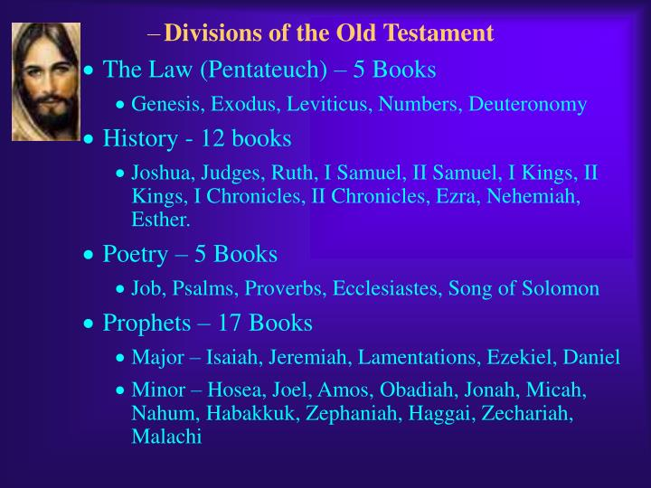 Divisions of the Old Testament