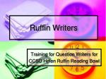 ruffin writers