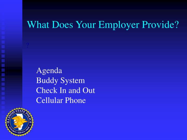 What Does Your Employer Provide?