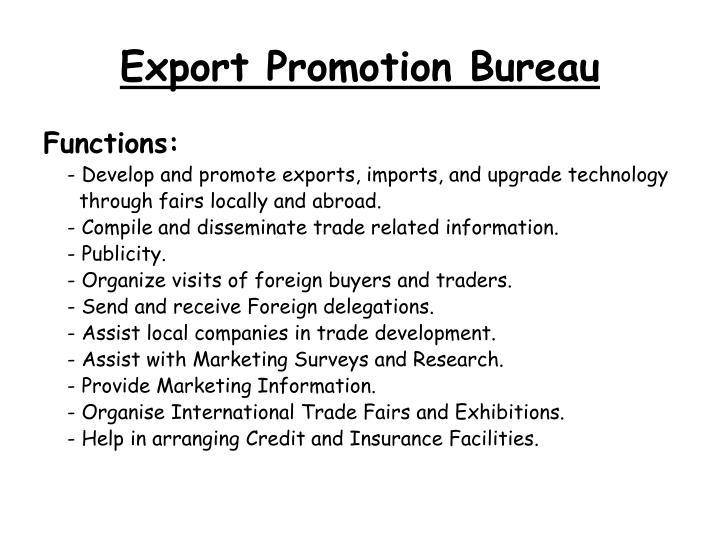 Export Promotion Bureau