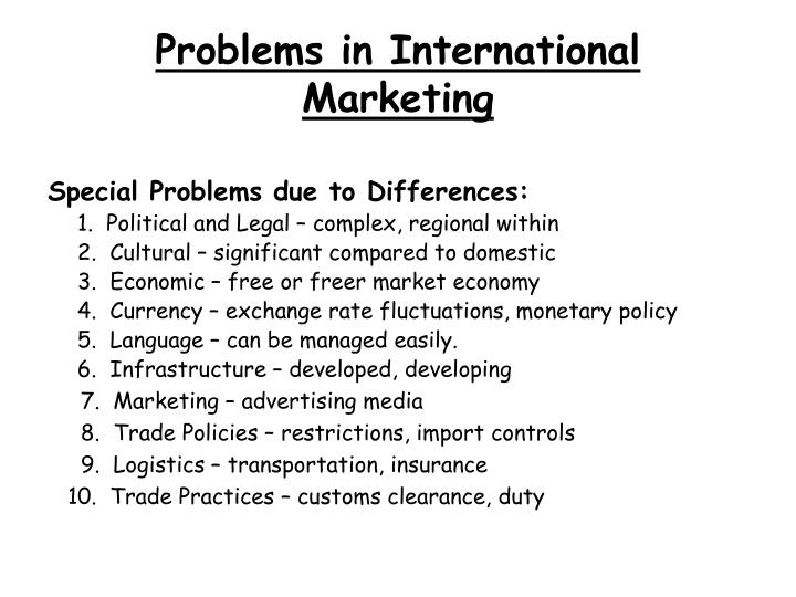 Problems in International