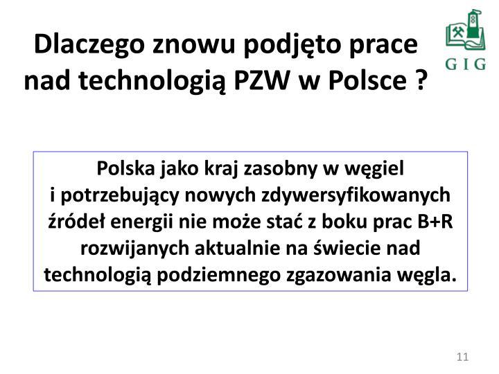 Dlaczego znowu podjęto prace nad technologią PZW w Polsce ?