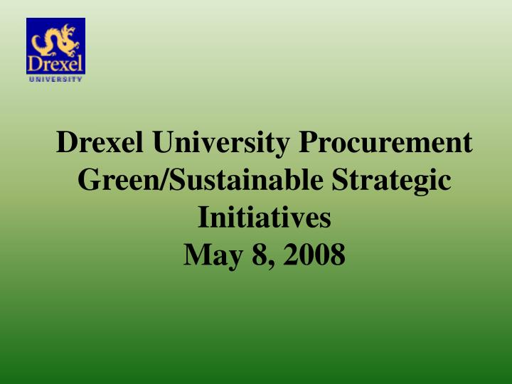 Drexel University Procurement
